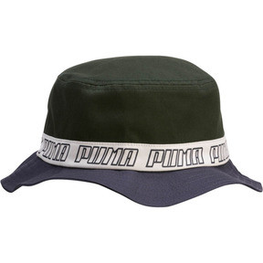 Thumbnail 1 of PUMA Bucket Hat, Navy/Green, medium