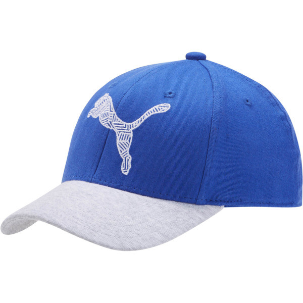 The Podium Adjustable Cap, BLUE / GREY, large