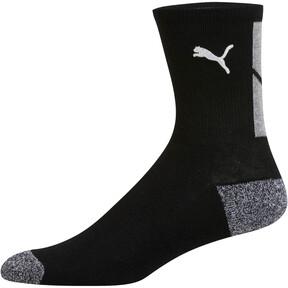 Thumbnail 3 of 1/2 Terry Men's Low Crew Socks [2 Pack], BLACK / WHITE, medium