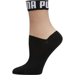 Thumbnail 1 of Wordmark Women's Low Crew Socks [1 Pair], BLACK / WHITE, medium