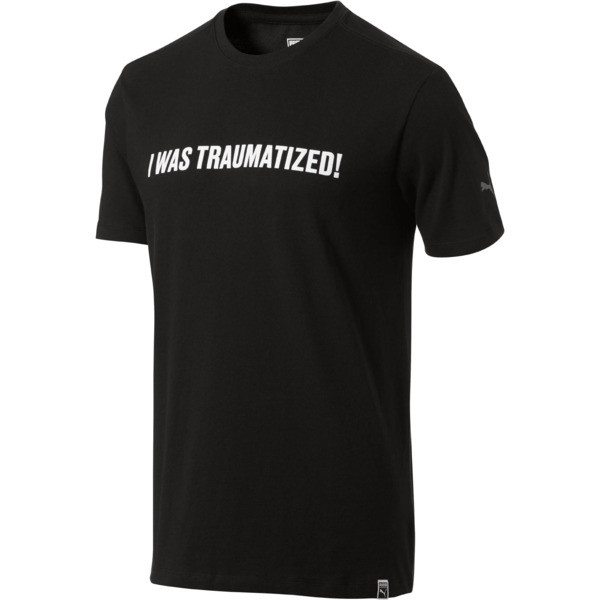 WOKE- Traumatized Tee, Black, large