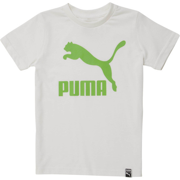 Little Kids' Archive Logo Tee, PUMA WHITE, large
