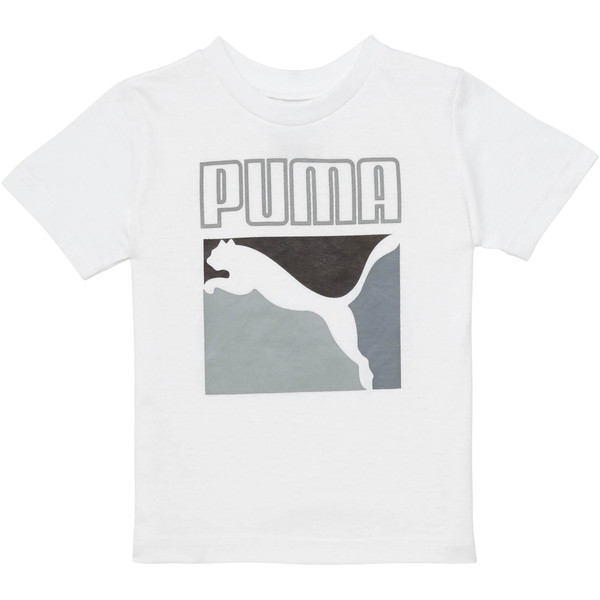 Toddler Graphic Tee, PUMA WHITE, large