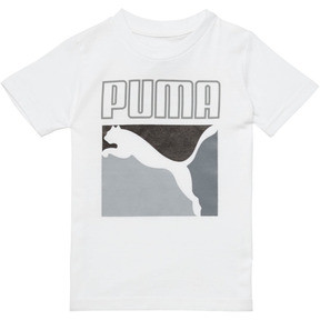 Thumbnail 1 of Little Kids' Graphic Tee, PUMA WHITE, medium