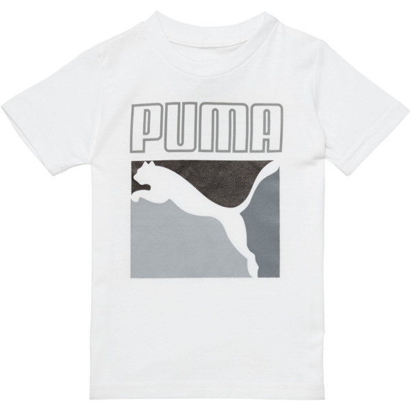 Little Kids' Graphic Tee, PUMA WHITE, large