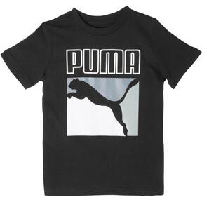Thumbnail 1 of Boy's Graphic Tee PS, PUMA BLACK, medium
