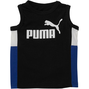 Thumbnail 1 of Toddler Colorblock Muscle Tank, PUMA BLACK, medium