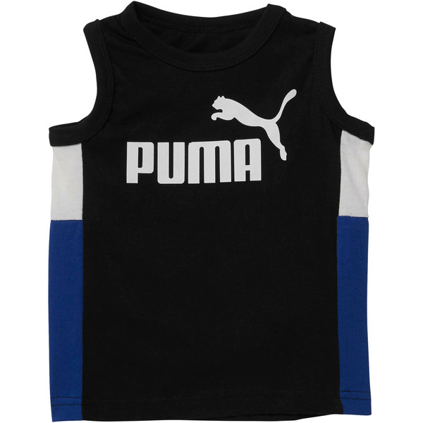 Toddler Colorblock Muscle Tank, PUMA BLACK, large