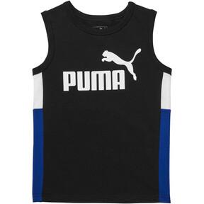 Miniatura 1 de Camiseta musculosa sin mangas en colores combinados para niños, PUMA BLACK, mediano