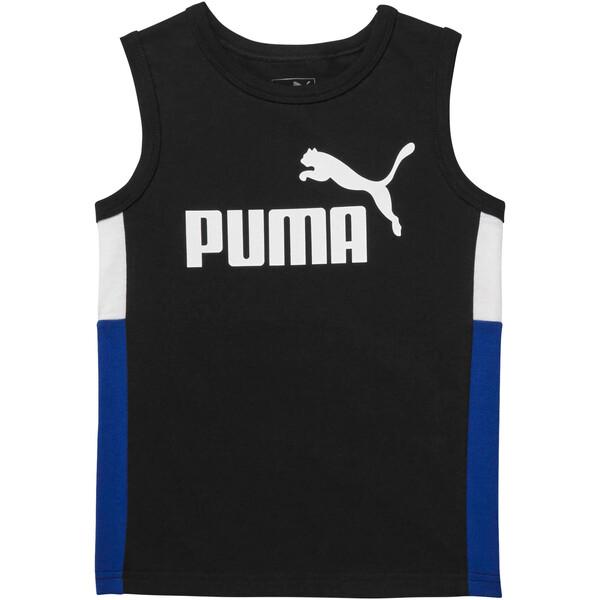 Camiseta musculosa sin mangas en colores combinados para niños, PUMA BLACK, grande