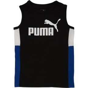 Thumbnail 1 of Boys' Color Block Muscle Tank JR, PUMA BLACK, medium