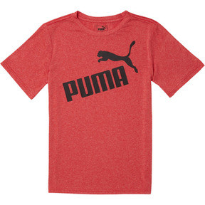 Thumbnail 1 of Boys' Poly Jersey Heather Tee JR, HIGH RISK RED HEATHER, medium