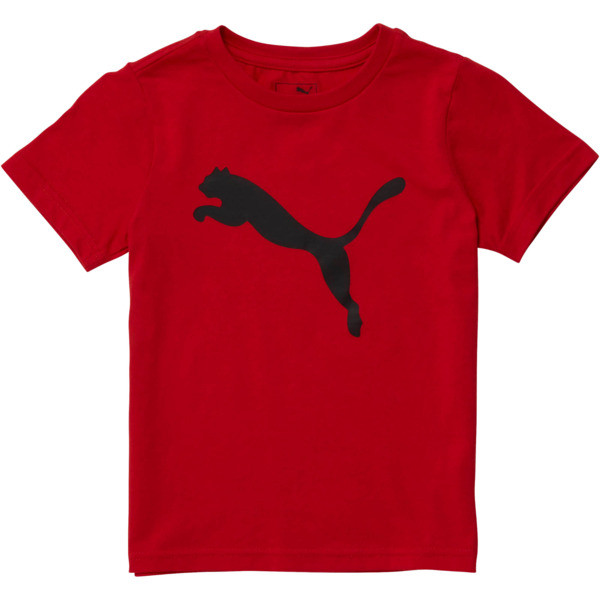 Camiseta de jersey de algodón Heather para niños, HIGH RISK RED, grande