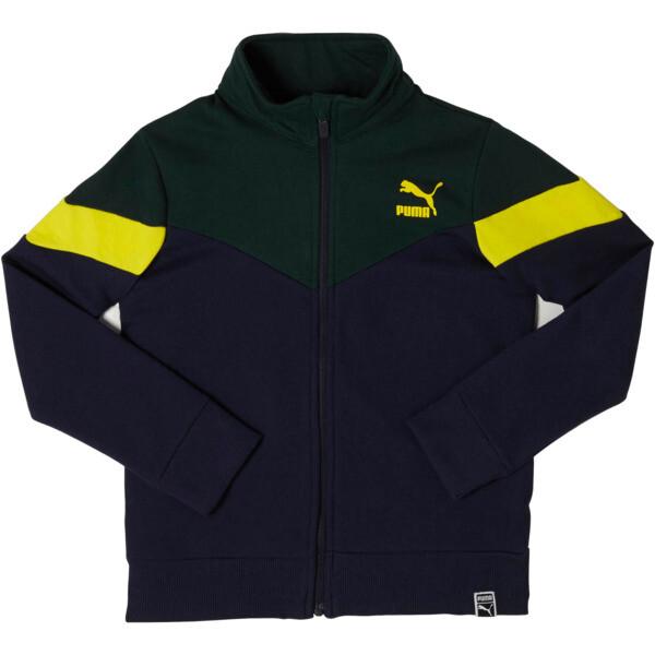 Boy's Color Block Track Jacket JR, PEACOAT, large
