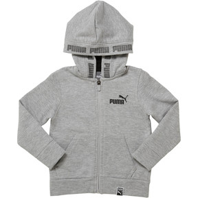 Thumbnail 1 of Fleece Full Zip Toddler Hoodie, LIGHT HEATHER GREY, medium