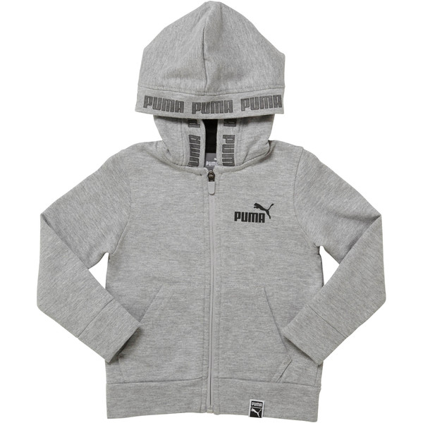 Fleece Full Zip Toddler Hoodie, LIGHT HEATHER GREY, large