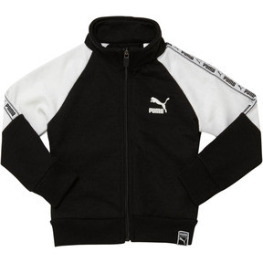 Thumbnail 1 of Boy's Terry Track Jacket INF, PUMA BLACK, medium