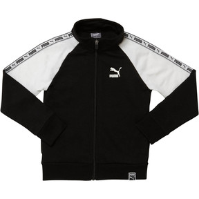 Thumbnail 1 of Boy's Terry Track Jacket PS, PUMA BLACK, medium