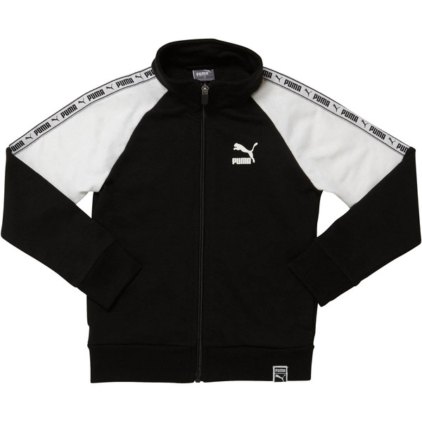Boy's Terry Track Jacket PS, PUMA BLACK, large