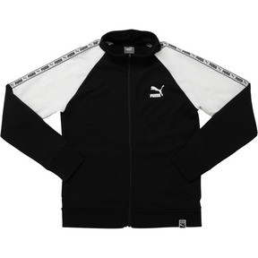 Thumbnail 1 of Boys' Terry Track Jacket JR, PUMA BLACK, medium