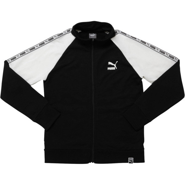 Boys' Terry Track Jacket JR, PUMA BLACK, large