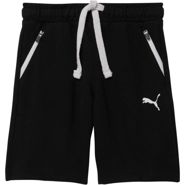 Little Kids'  Zip Pocket Shorts, PUMA BLACK, large