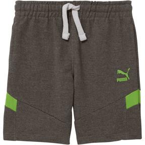 Shorts con retazos de felpa francesa y algodón para niños