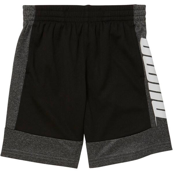 Little Kids' Poly Interlock Performance Shorts, PUMA BLACK, large