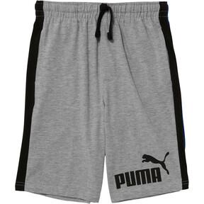 Thumbnail 1 of Boys' Cotton Heavy Jersey Pieced Shorts JR, LIGHT HEATHER GREY, medium