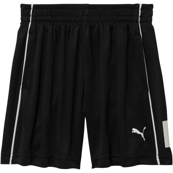Boy's Poly Interlock Piece Shorts INF, PUMA BLACK, large
