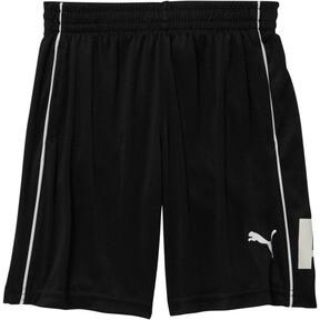 Thumbnail 1 of Boy's Poly Interlock Pieced Shorts PS, PUMA BLACK, medium