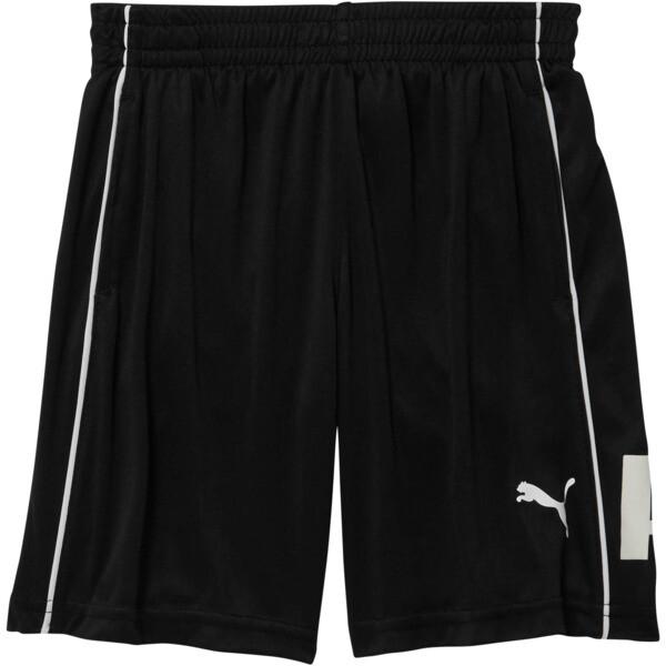 Boy's Poly Interlock Pieced Shorts PS, PUMA BLACK, large
