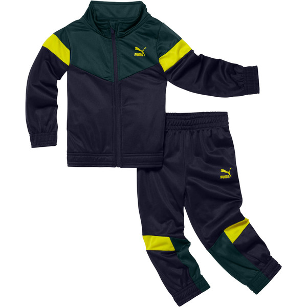 Boy's Fleece Track Jacket and Pants Set INF, PEACOAT, large