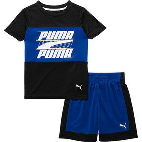 Thumbnail 1 of Toddler Colorblock Set, PUMA BLACK, medium