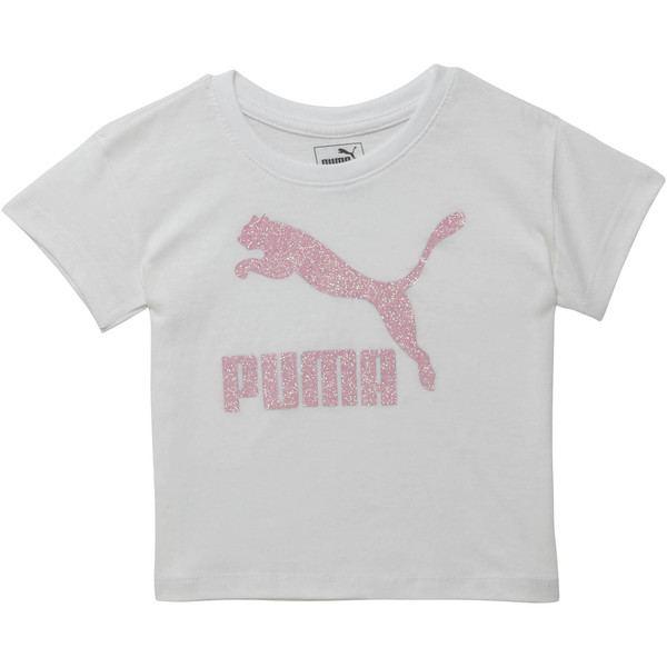 Toddler Cotton Jersey Drop Shoulder Tee, PUMA WHITE, large