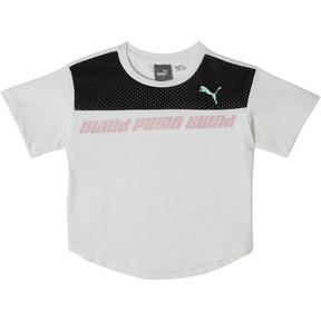 Thumbnail 1 of Girl's Slub Jersey Fashion Tee PS, PUMA WHITE, medium