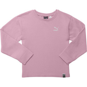 Thumbnail 1 of Girl's Oversized Fleece Pullover PS, PALE PINK, medium