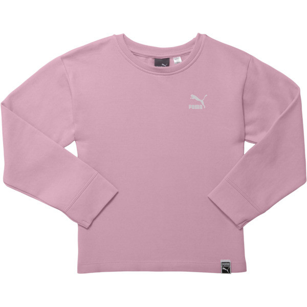 Girl's Oversized Fleece Pullover PS, PALE PINK, large