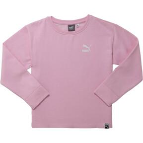 Thumbnail 1 of Girl's Oversized Fleece Pullover JR, PALE PINK, medium