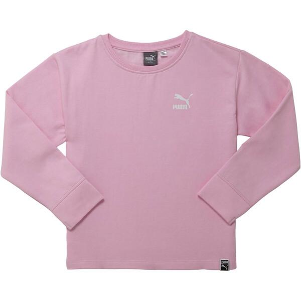 Girl's Oversized Fleece Pullover JR, PALE PINK, large