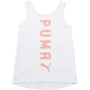 Thumbnail 1 of Little Kid's Crossover Fashion Tank, PUMA WHITE, medium