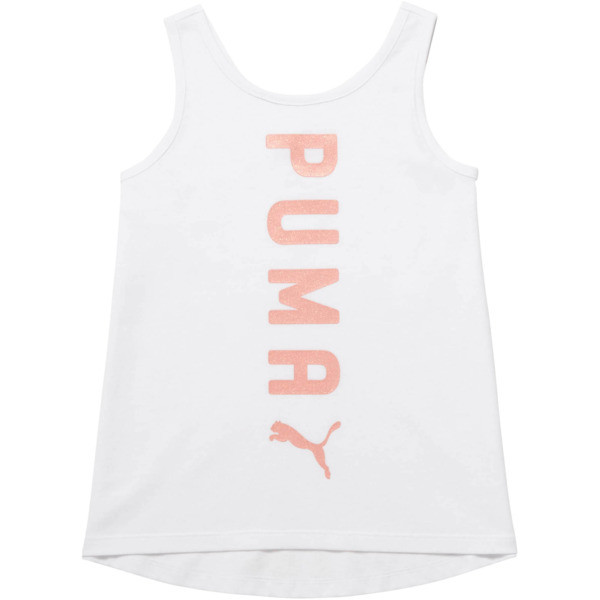 Little Kid's Crossover Fashion Tank, PUMA WHITE, large