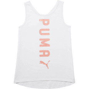 Thumbnail 1 of Girl's Crossover Fashion Tank JR, PUMA WHITE, medium