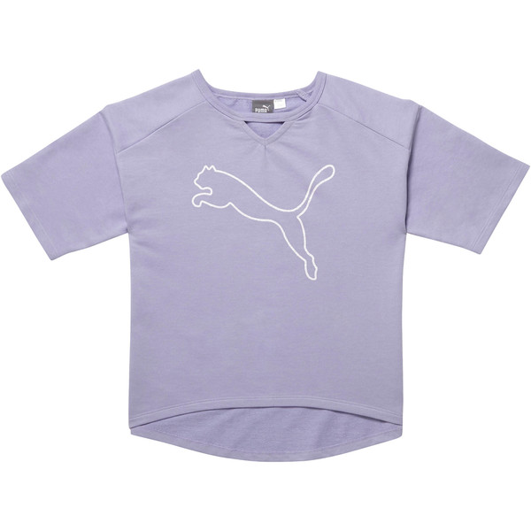 Girl's Cotton Terry Fashion Top JR, SWEET LAVENDER, large