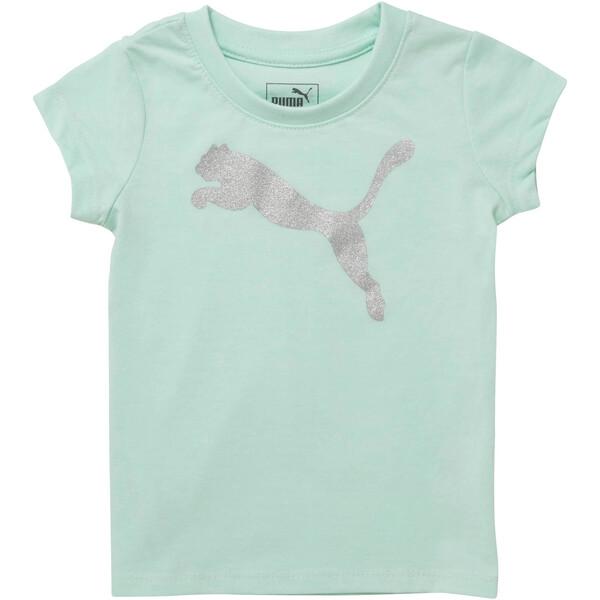 Girl's Cotton Jersey Cat Logo Tee INF, FAIR AQUA, large