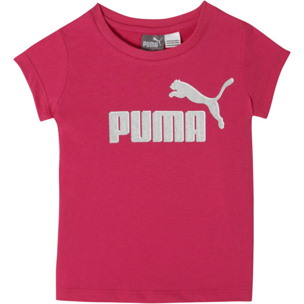 Cotton Jersey Toddler Logo Tee, FUSCHIA PURPLE, large