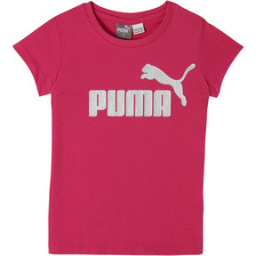 Thumbnail 1 of Girl's Cotton Jersey Logo Tee PS, FUSCHIA PURPLE, medium