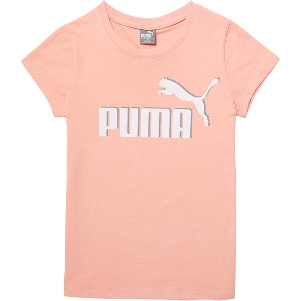 Girl's Cotton Jersey Logo Tee JR, PEACH BUD, large