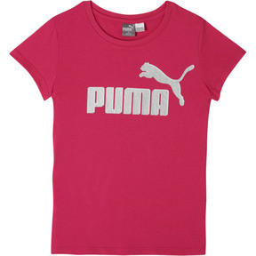 Thumbnail 1 of Girl's Cotton Jersey Logo Tee JR, FUSCHIA PURPLE, medium