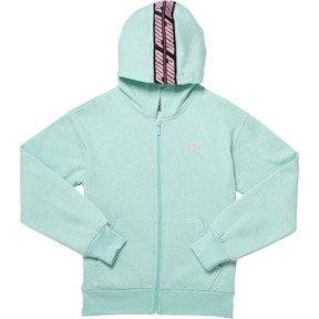 Thumbnail 1 of Girls' Fleece Full Zip Hoodie JR, FAIR AQUA, medium
